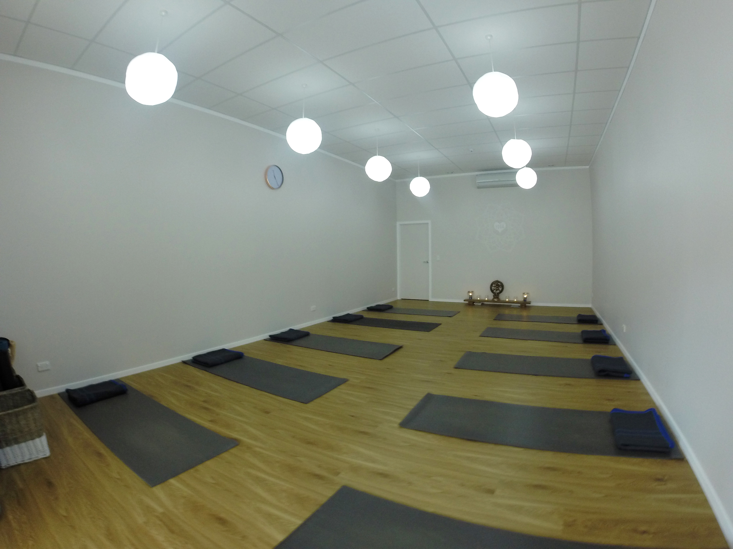 Our spacious, light and warm studio