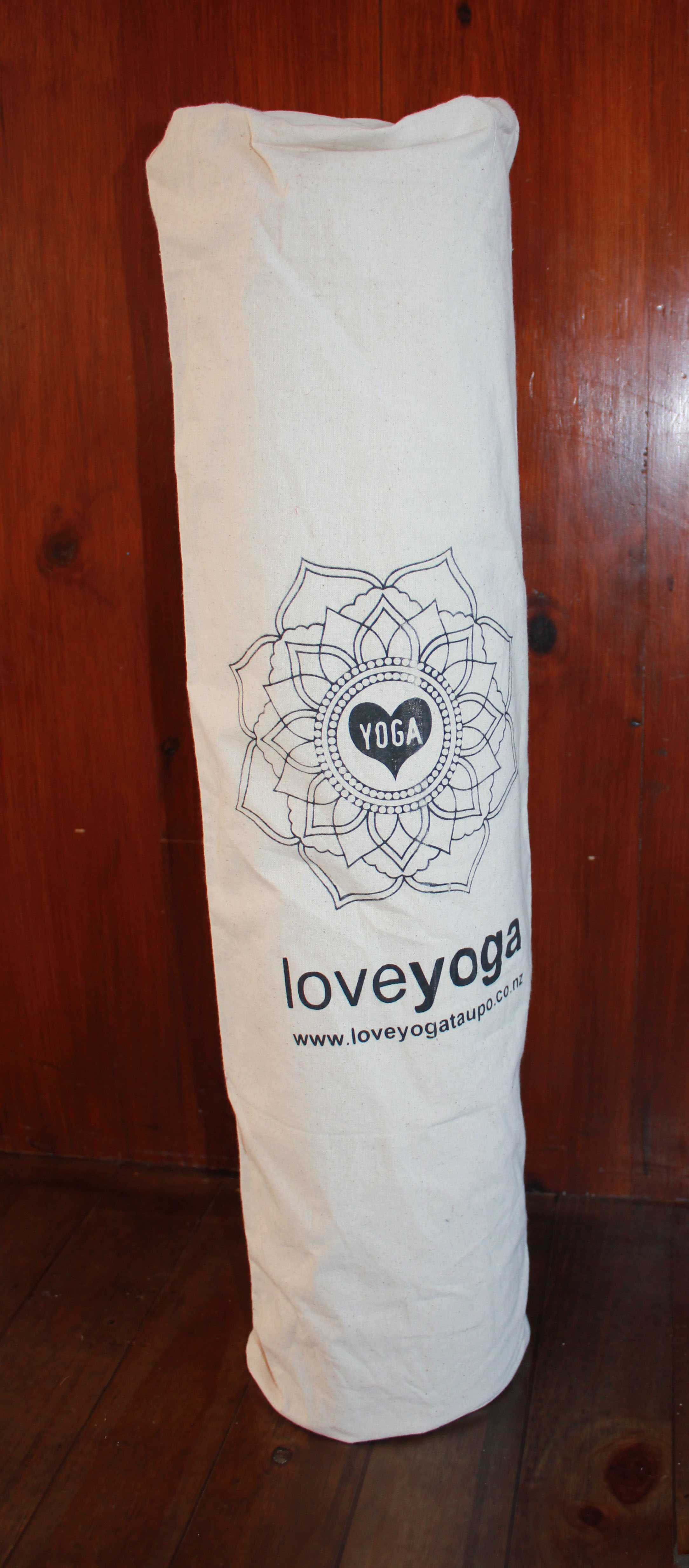 Love Yoga Mat Bag   With a hidden key pocket inside, and soft comfortable strap, these bags are a great way to carry your mat!  NZ$45.00