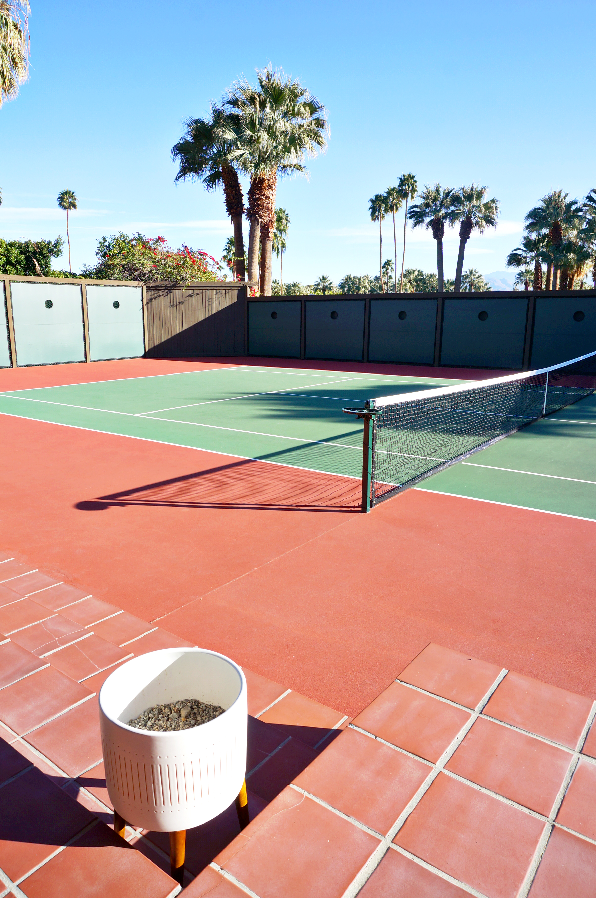 Palm Springs loves its Tennis- the court at the Kirk Douglas estate