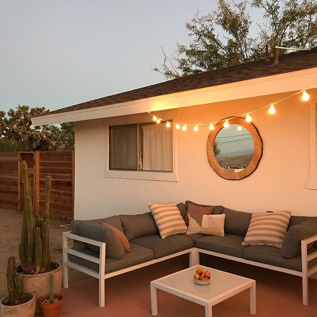Summer nights at the Casa ✨🧡 #casajoshuatree