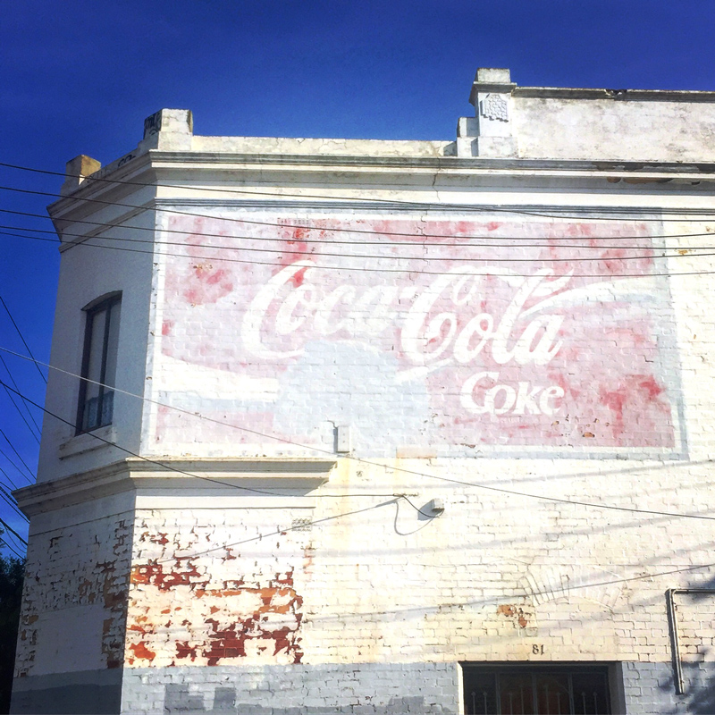 Vintage Coke, ghost Sign - Melbourne