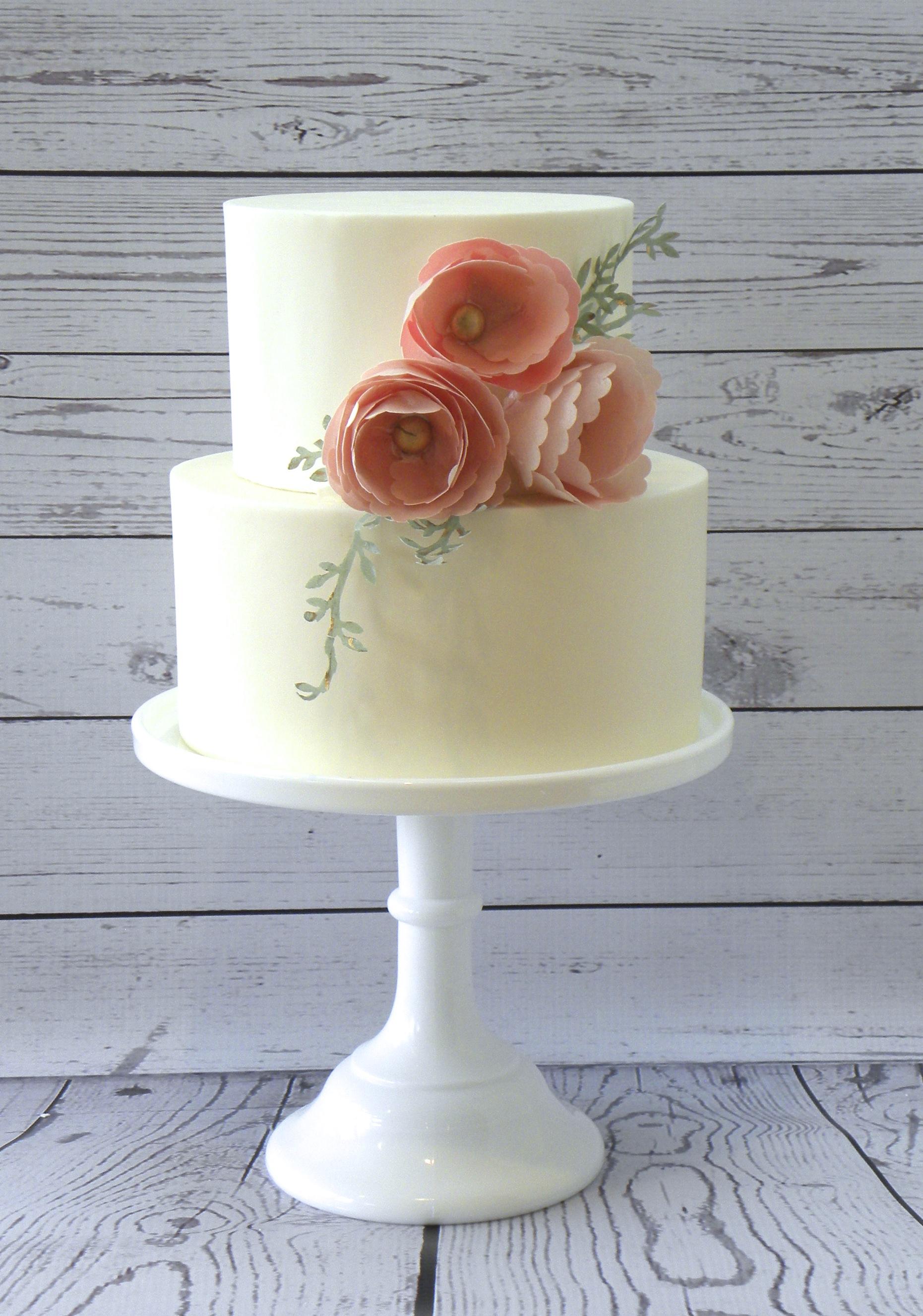 Wafer Paper Peony Cake