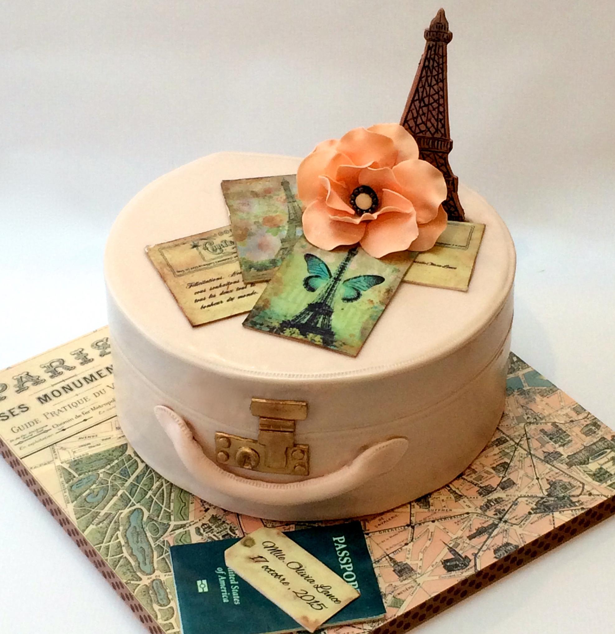 Paris-Themed Bridal Shower Cake