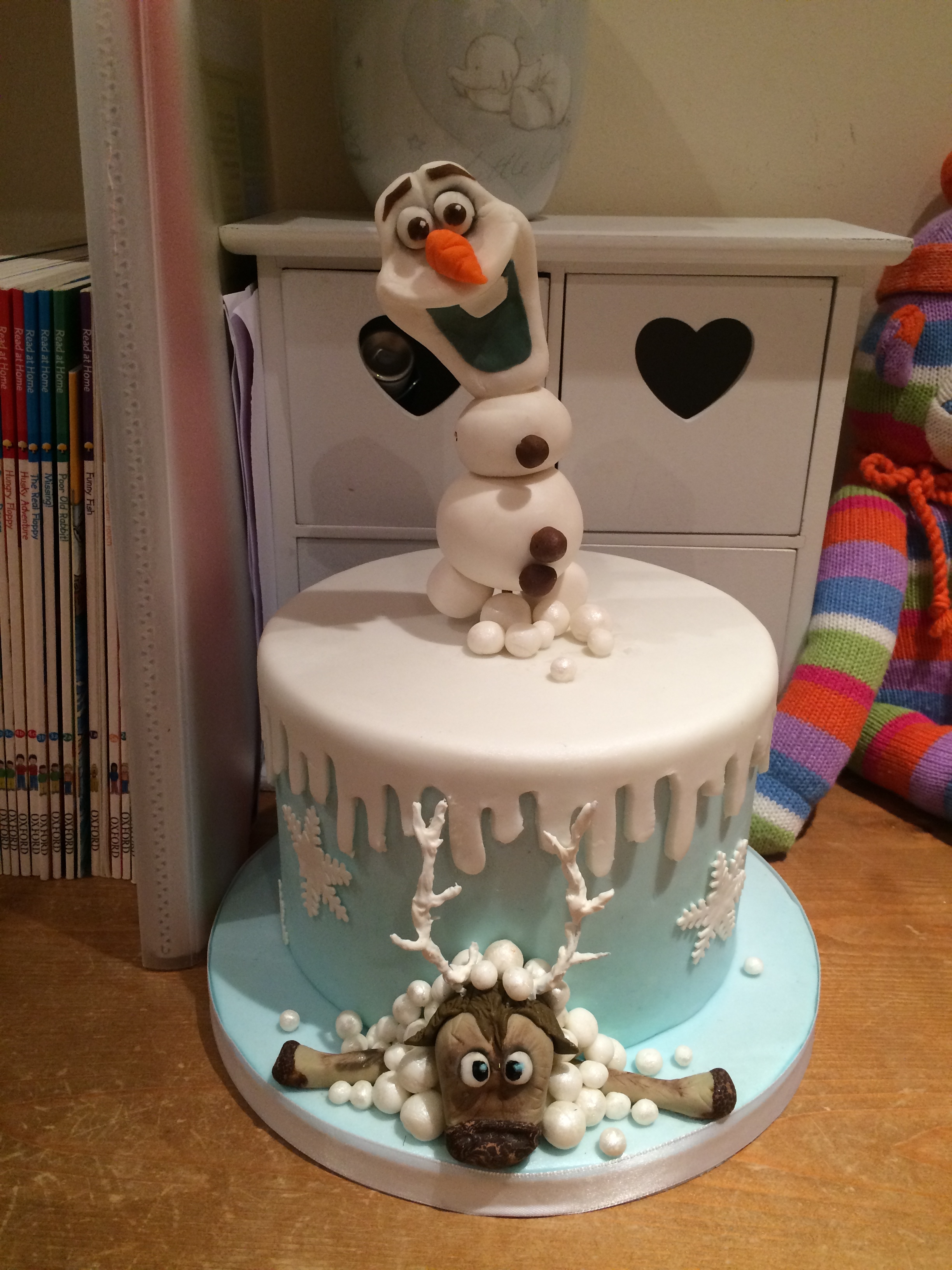 The cake safely arrived and installed in her bedroom back in England!
