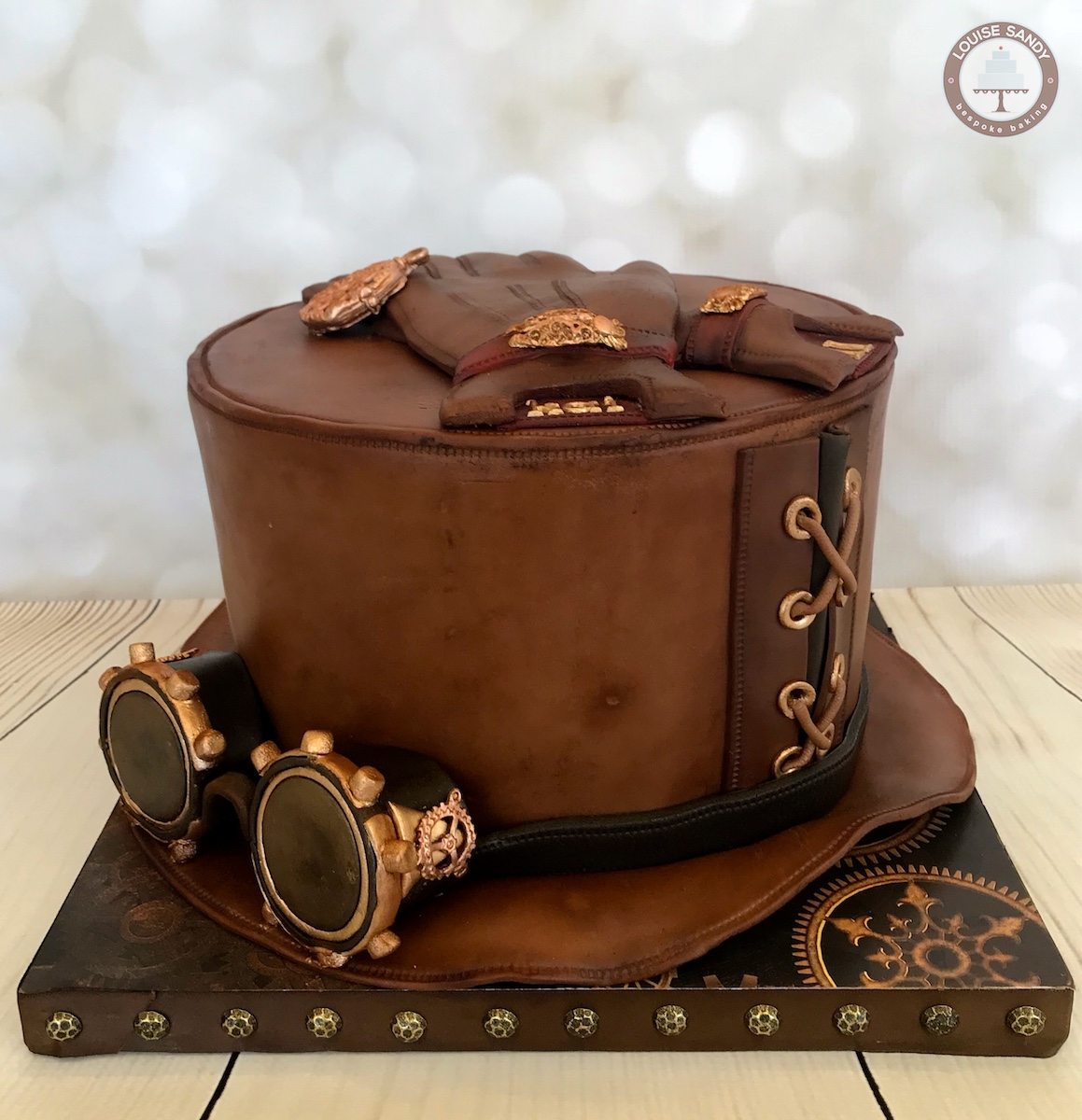 Steampunk Hat with Goggles and Gloves