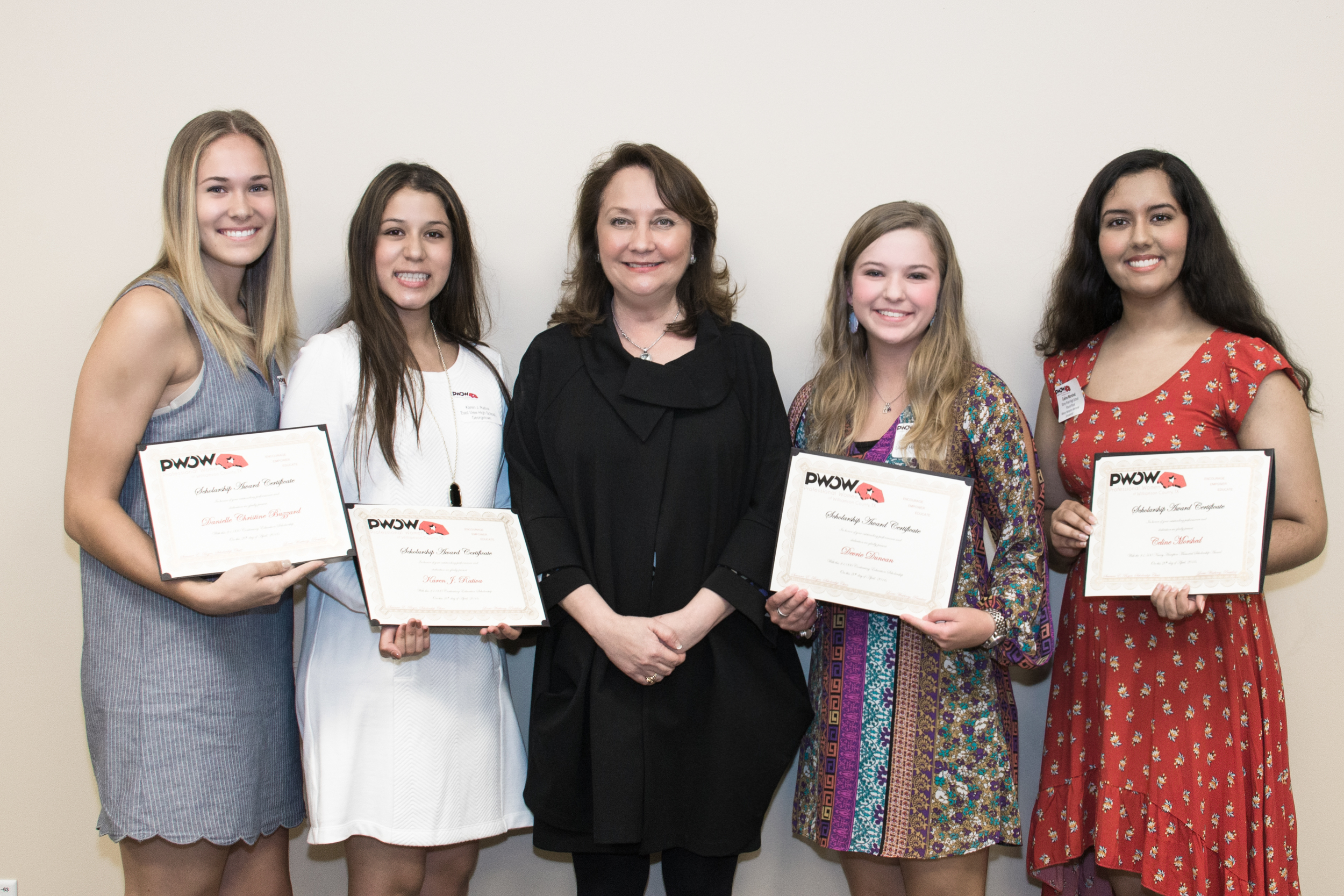 Our scholarship winners and Texas First Lady Cecilia Abbott
