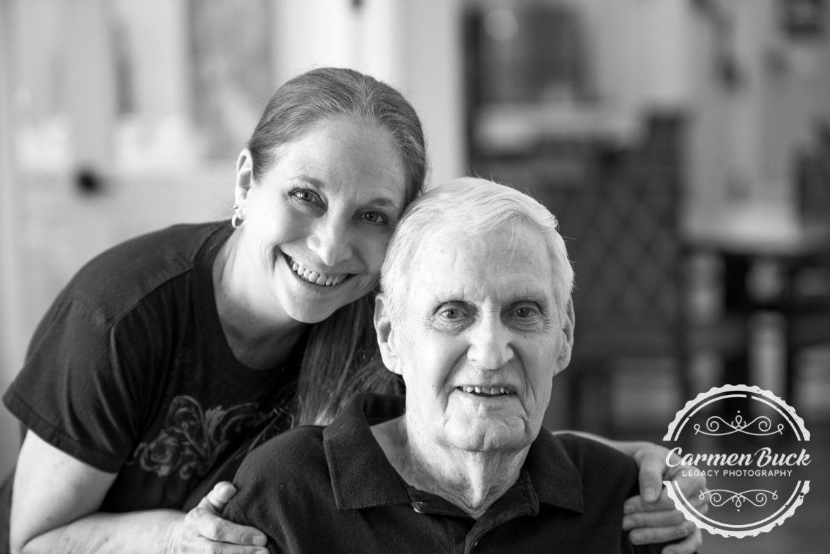 Vickie and her father Lasiter at age 94
