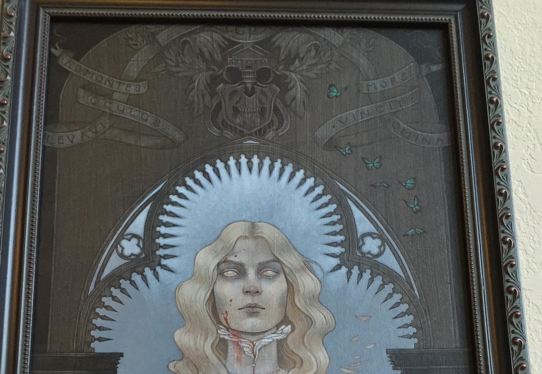 Detail of my piece for the show inspired by 'Crimson Peak'.