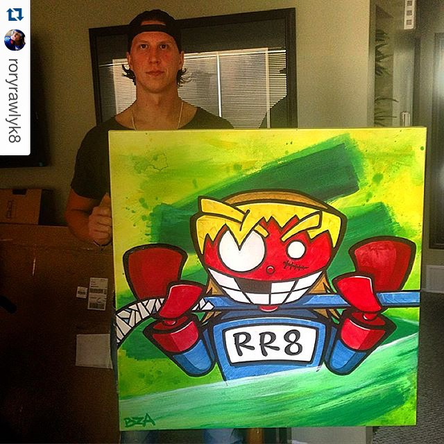 #Repost @roryrawlyk8. Commission all done & delivered! ・・・ Huge thanks to  @bensonn1 . Awesome/Amazing job & sweet idea. Absolute pleasure to do business with 👍. Sure gonna spruce up  the house. #RoryBot #RR8 #Mycolors #memebots #BZA #custom #art