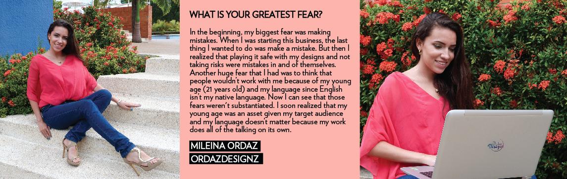 MILEINA ORDAZ ORDAZDESIGNZ graphic female entrepreneur business online design