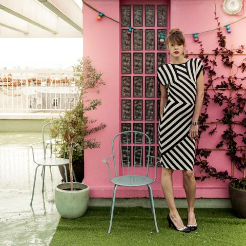 Cécile Thieulin @ Simone Simon fashion stripes moda architecture entrepreneur girlboss community global we rule werule