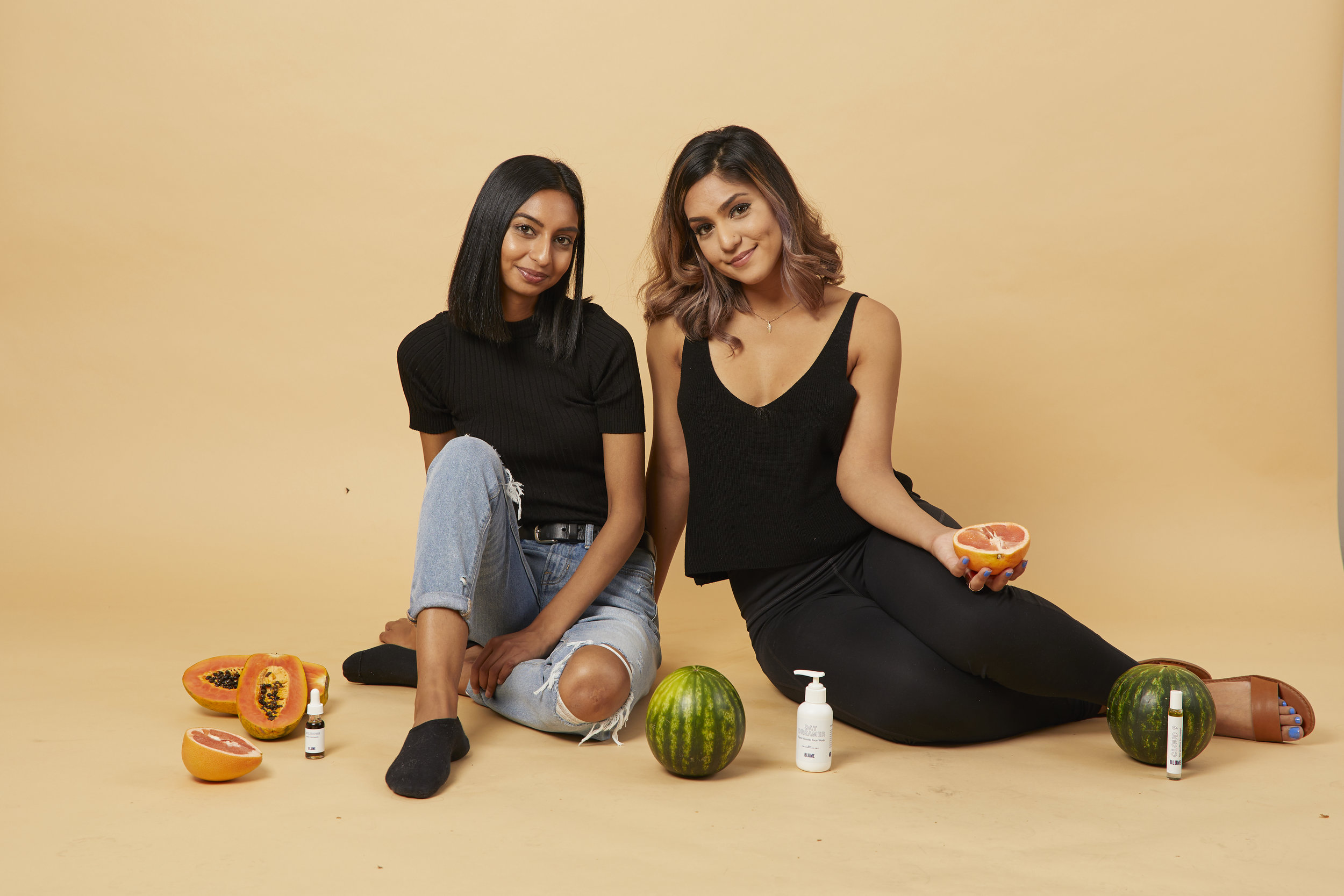 Taran & Bunny @ Blume: first ever cohesive line of personal care products for Gen Z girls \ we rule werule entrepreneurs business girlboss community founders