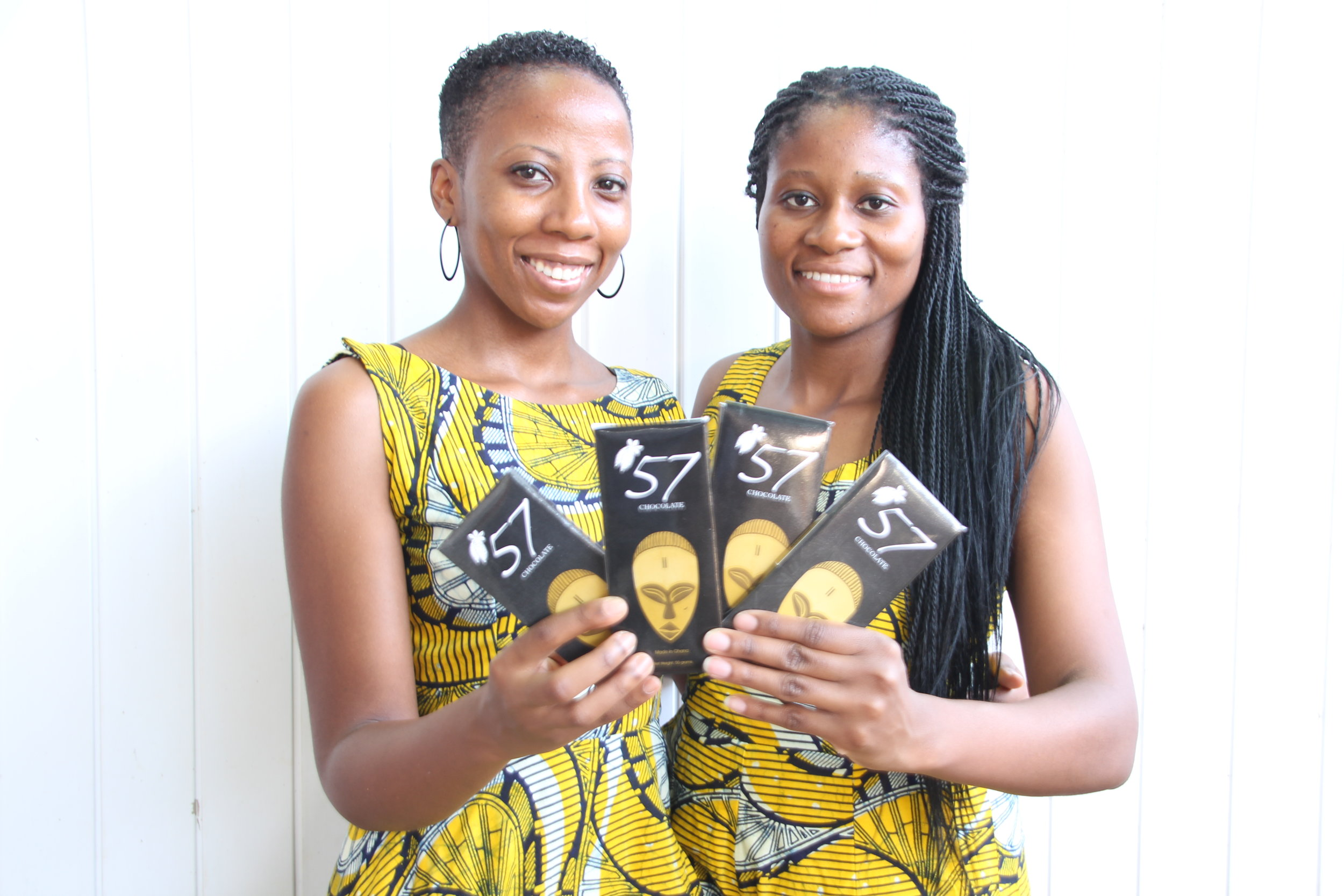 Kimberly  and Priscilla 57-chocolate-a-luxury-bean-to-bar-chocolate-manufactured-in-ghana Justyna Kedra WE Rule werule business entrepreneur global community.JPG