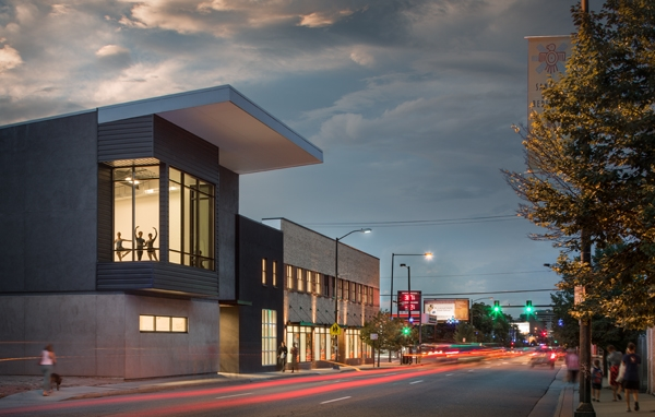 Colorado Ballet's new home, The Armstrong Center for Dance, located on Santa Fe Drive -Photo by David Lauer