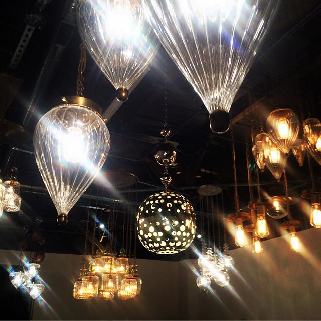 It's been a long week, so we decided to do #fieldtripfriday a little early. Obviously to the #chandelier room at @clusterdenver