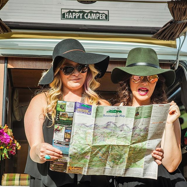 In honor of my #girlsgetaway this weekend  Special thanks to @fromthehipphoto for capturing this moment from last year's #glamping weekend.