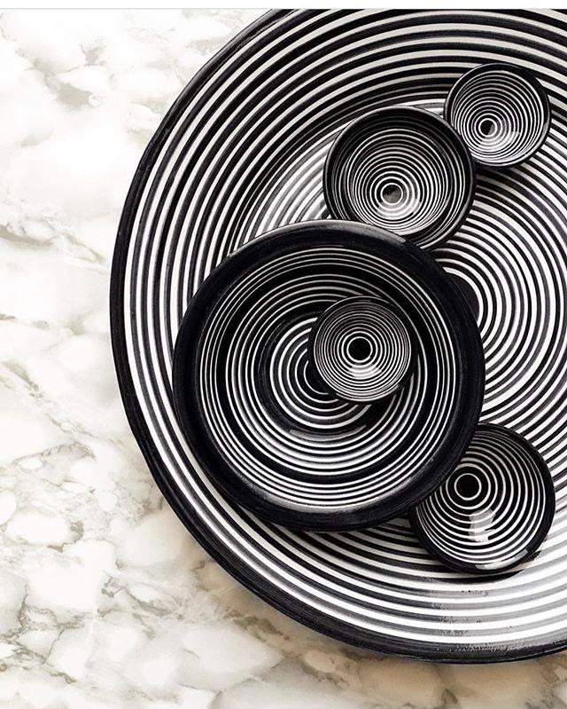 """You spin me right round, baby..,,"" @casacubista classic collection. #portugal #handmade #design #interiordesign #instadecor #style #styleinspiration #artisan #craft #modern #pottery #details #blackandehitedecor #saudadetoronto #littleportugal #thesix"