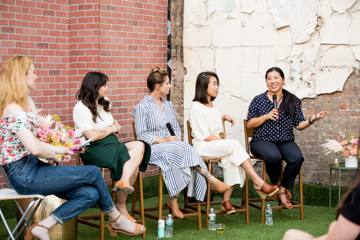 """We almost work as a branding agency, but for the space, so the process is different every single time based on what clients need, and we do a ton of research on who they are and what they do. We started a project for a women-run company, and they felt strongly that they wanted to support female entrepreneurs, so we put together an all-female design and construction team — we have great female contractors that we work with who are the best of the best. It is so exciting; we all work together (as women) really well and solve problems together."" - Alda Ly"