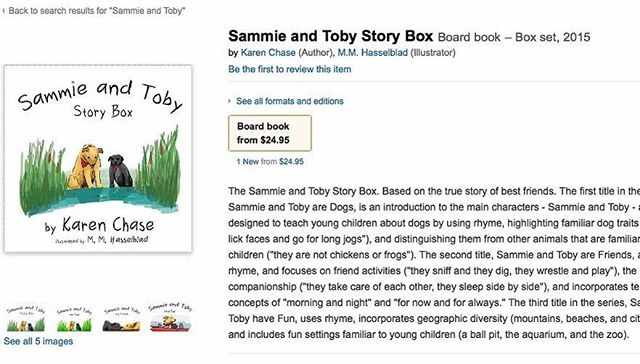 The Sammie and Toby Story Box is now for sale! Go to our Facebook page for more information on how to get your copy today! https://www.facebook.com/permalink.php?story_fbid=486566228208938&id=445789705619924&substory_index=0