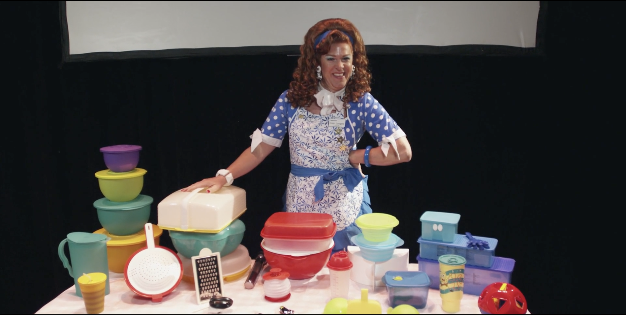 Dixie Longate and her Tupperware world.