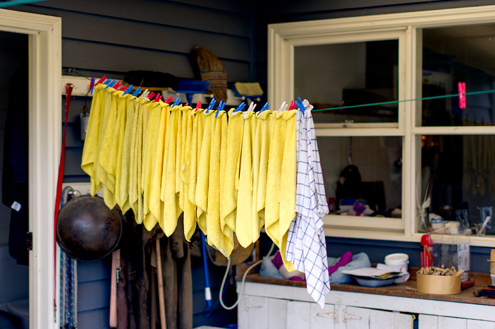 How is it that a washing line of dish rags look so good?!