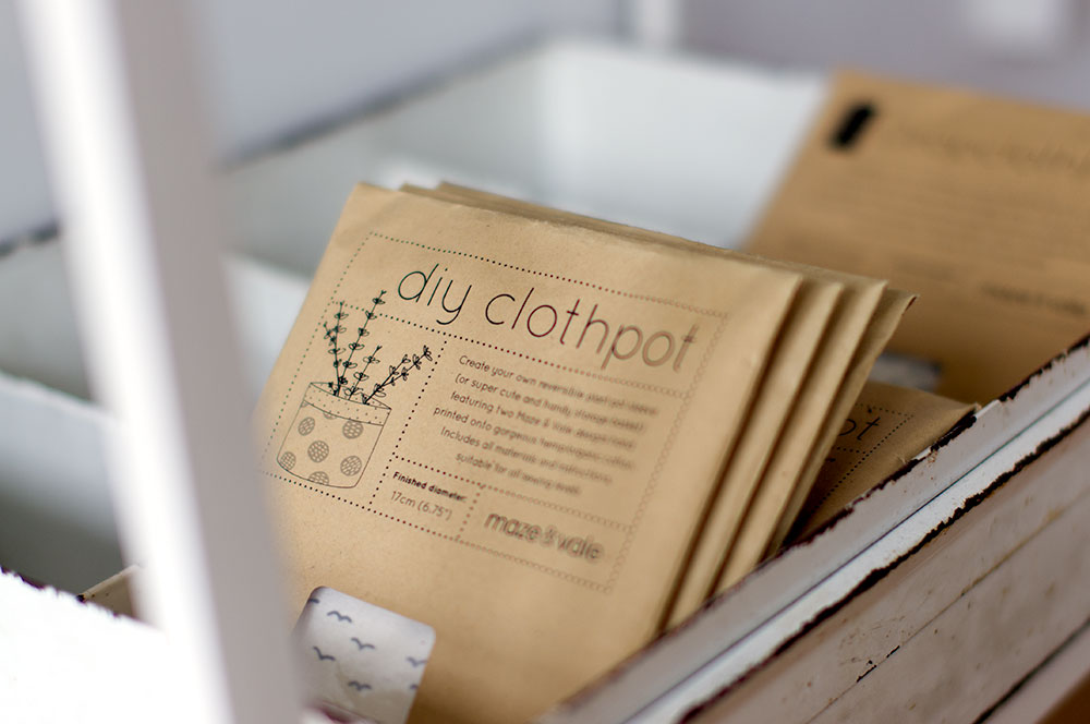 Clothpot kits - you can  buy these  from the Maze & Vale website. Photo by Susan Fitzgerald.