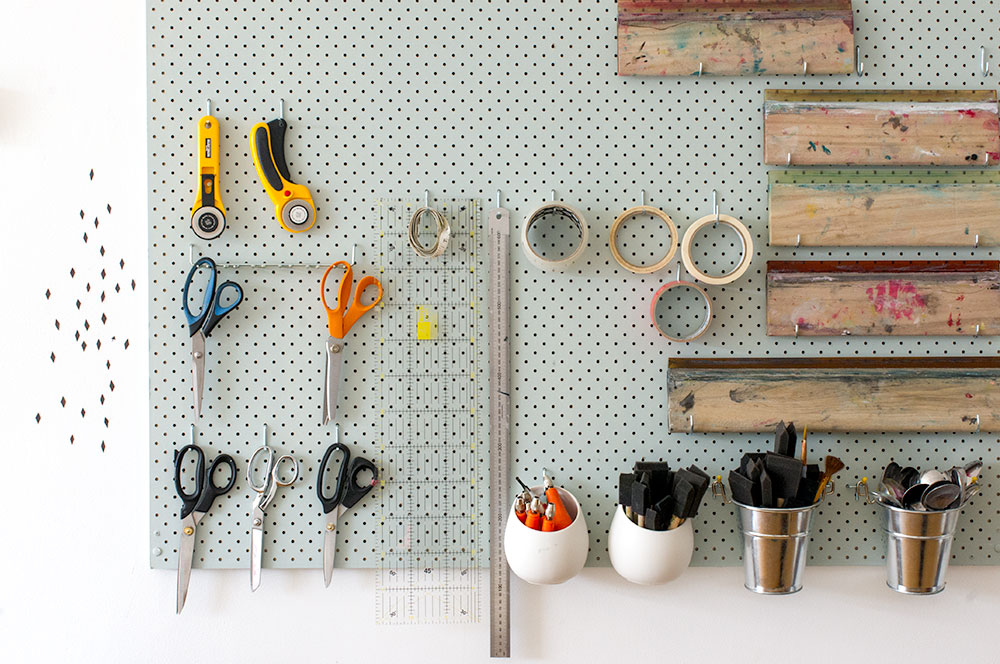 Pegboard excellence. Photo by Susan Fitzgerald.