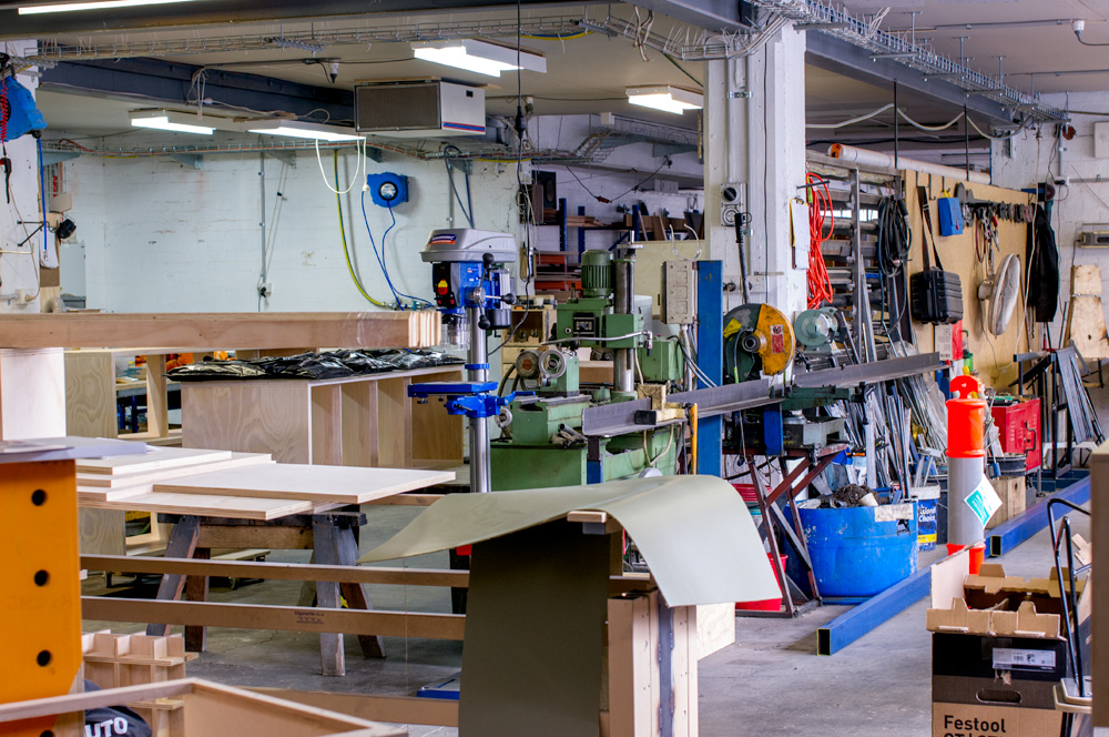 This is just part of the huge workshop. Photo by Susan Fitzgerald.