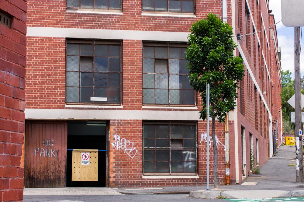 Studio door. Photo by Susan Fitzgerald.