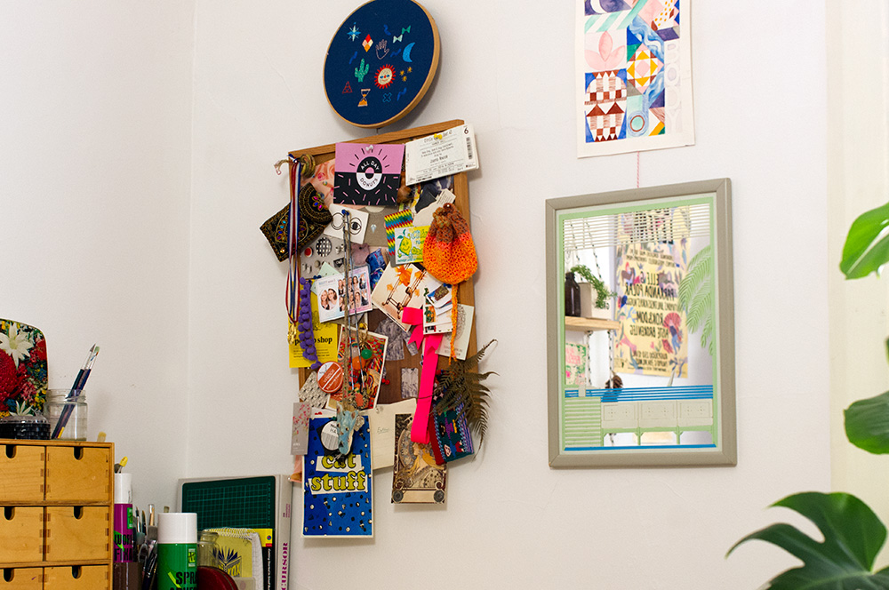 Pinboard inspiration. Scroll down for a pinboard close-up. Photo by Susan Fitzgerald.
