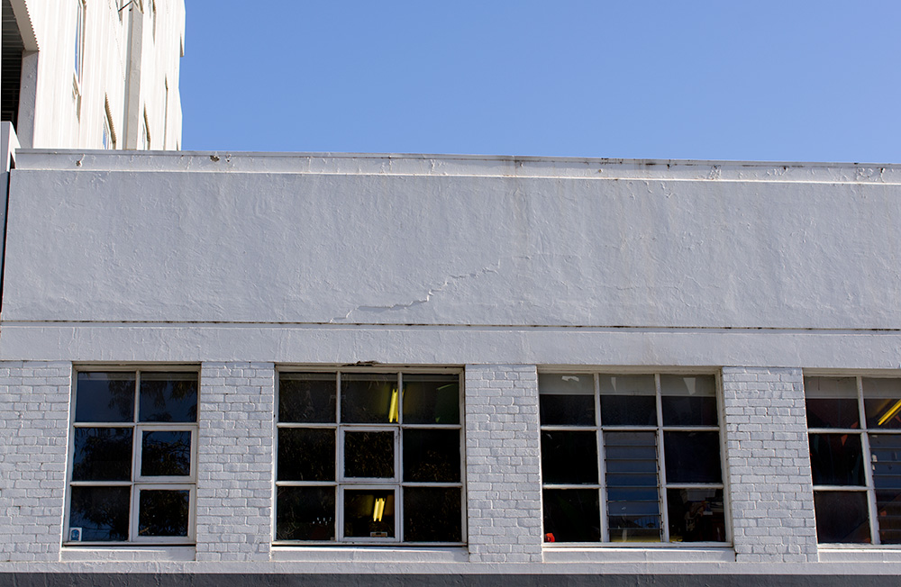 Studio windows from the road. Photo by Susan Fitzgerald.