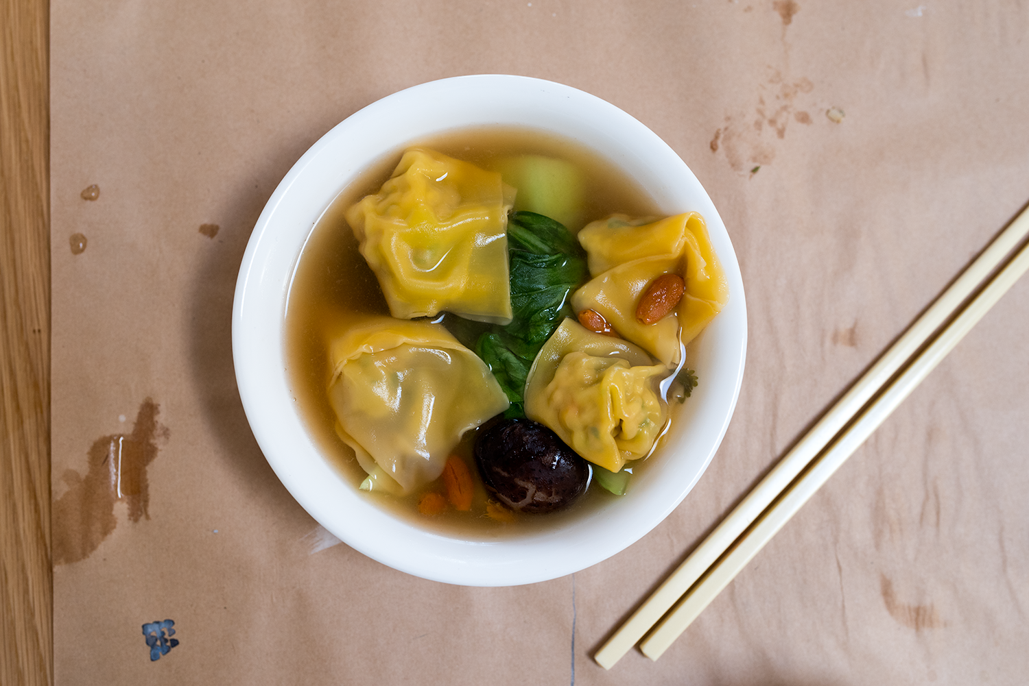 The wonton soup we made for lunch! So good.