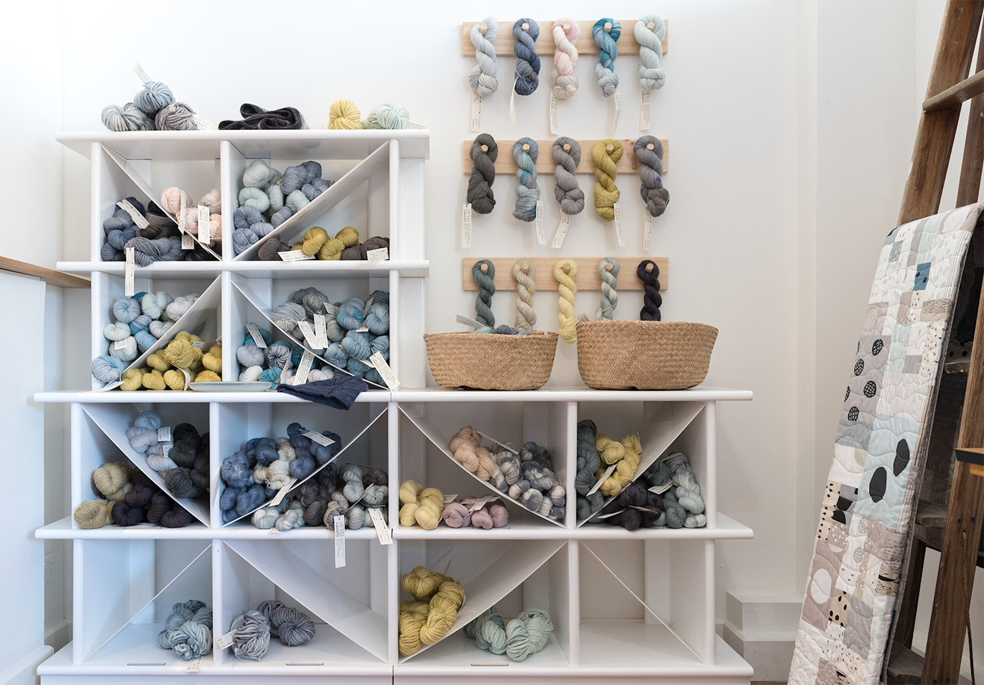 The whole Fibresmith yarn range. Photo by Susan Fitzgerald.
