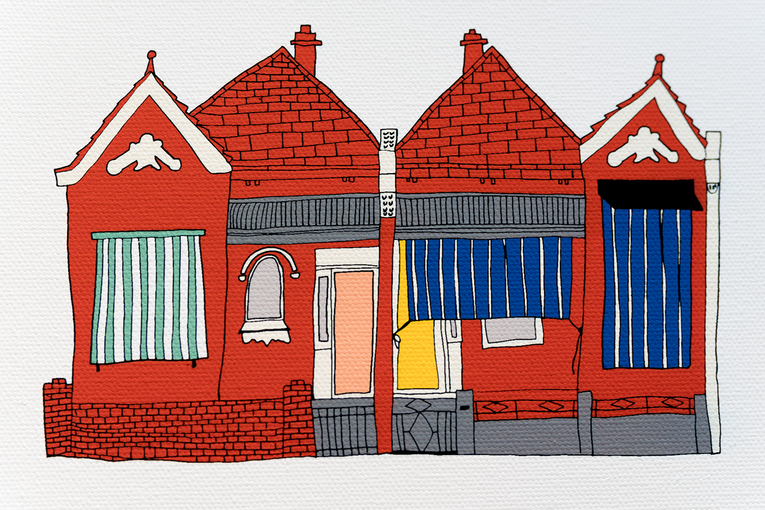 This brand new print,  North Carlton Houses , has just been listed in the store