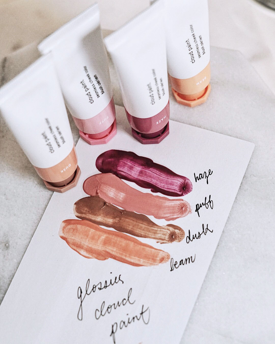 Glossier Cloud Paint | Review + Swatches — c i n d y h y u e