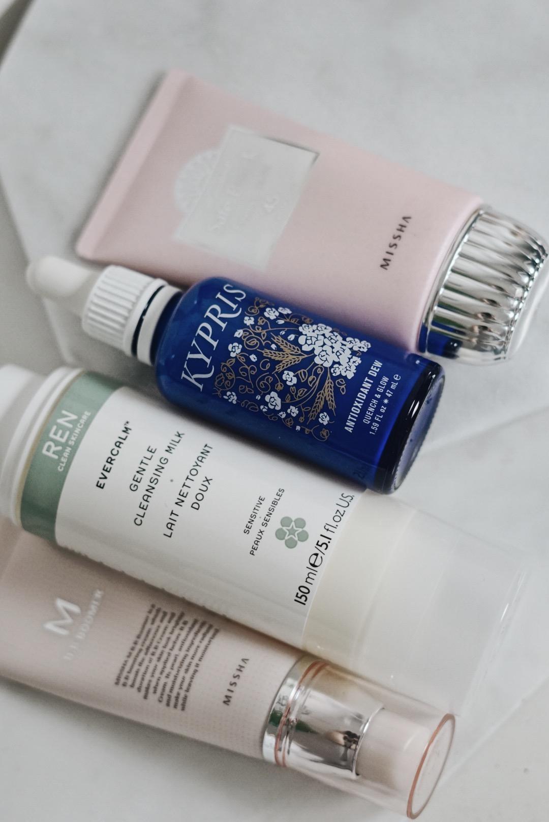 Skincare-Edit-Glossier-PMR-Missha-REN-kypris