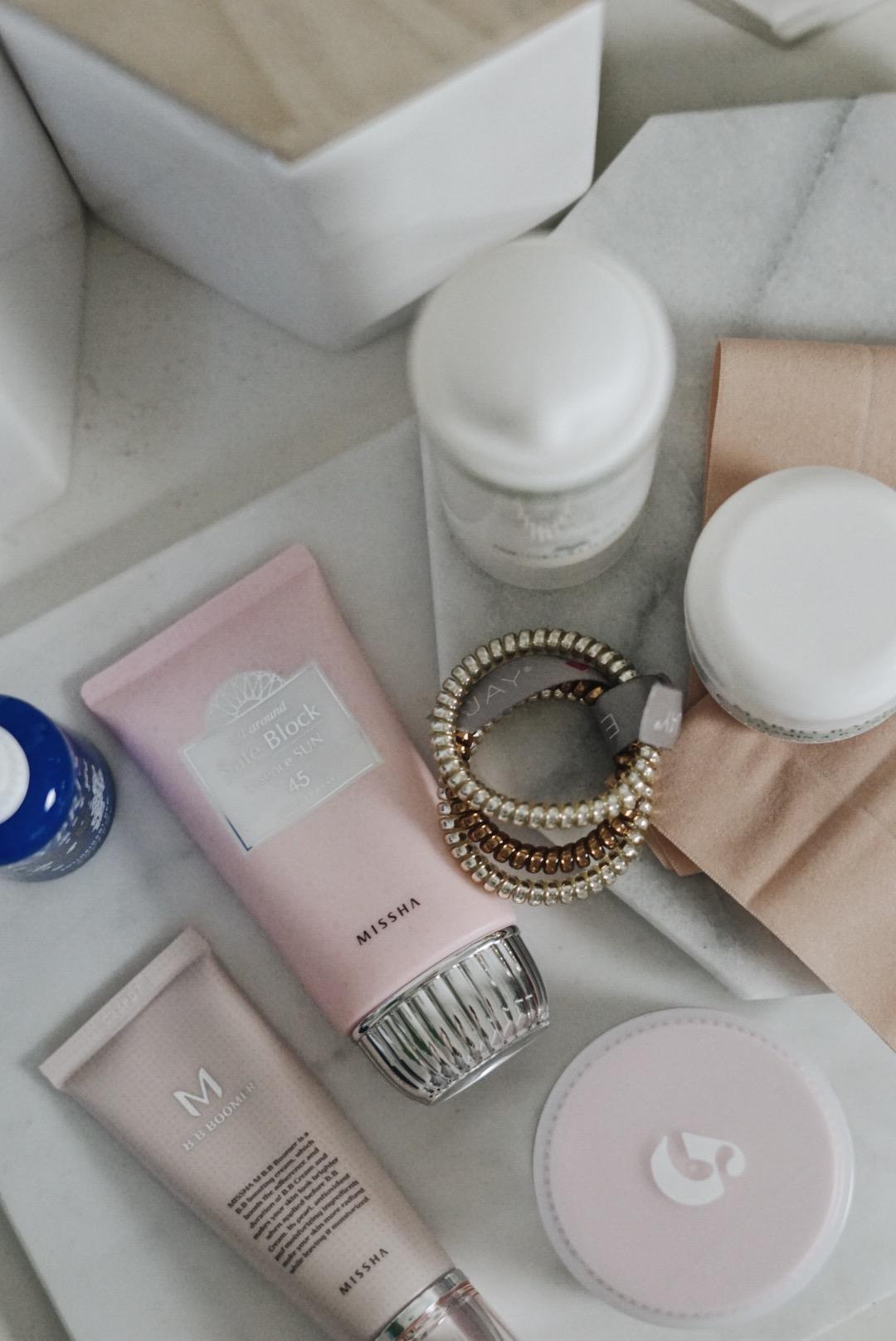 Skincare-Edit-Glossier-PMR-Missha-REN-mario-badescu-kypris