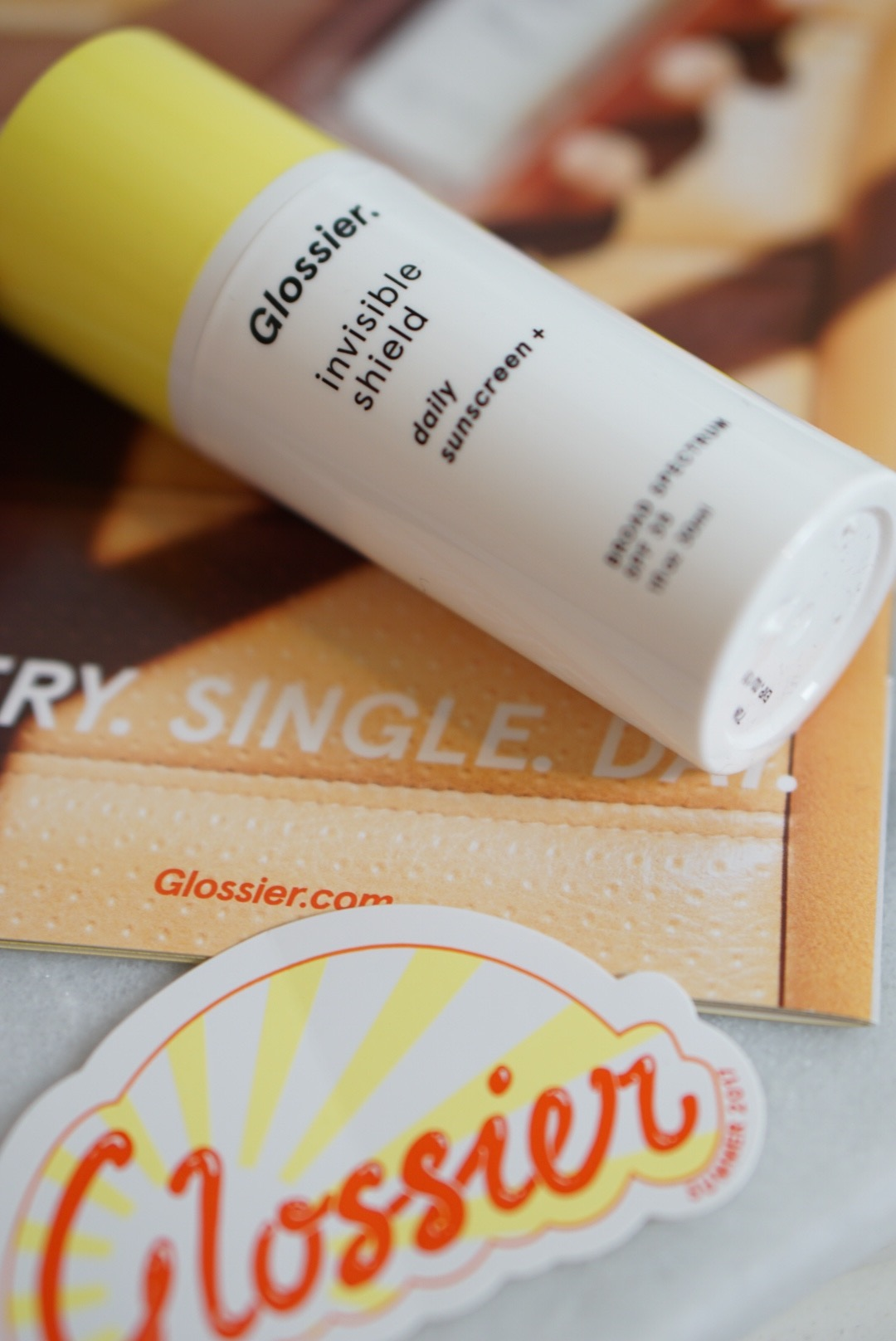 Glossier-Skincare-Sunscreen-Invisible-Shield-Review-Discount