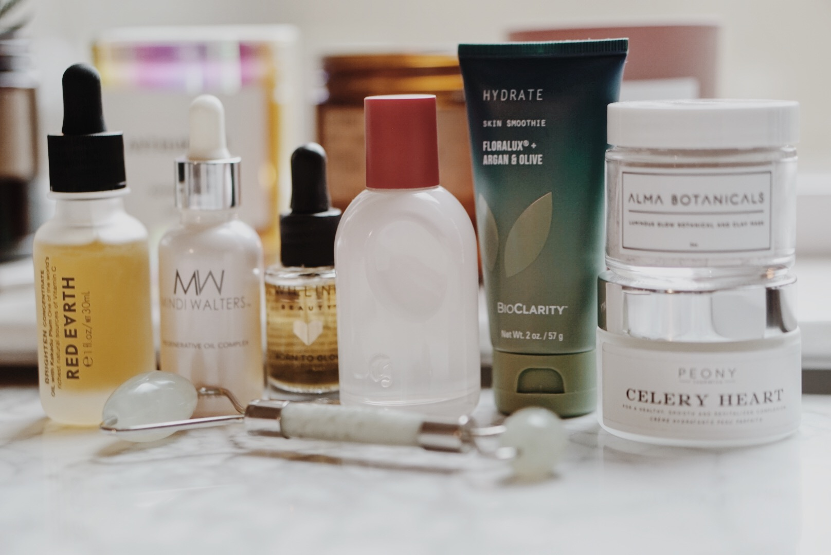 Products I'm Testing | Glossier, Red Earth Beauty, Mount Lai, Alma Botanicals, BioClarity, Alma Botanicals