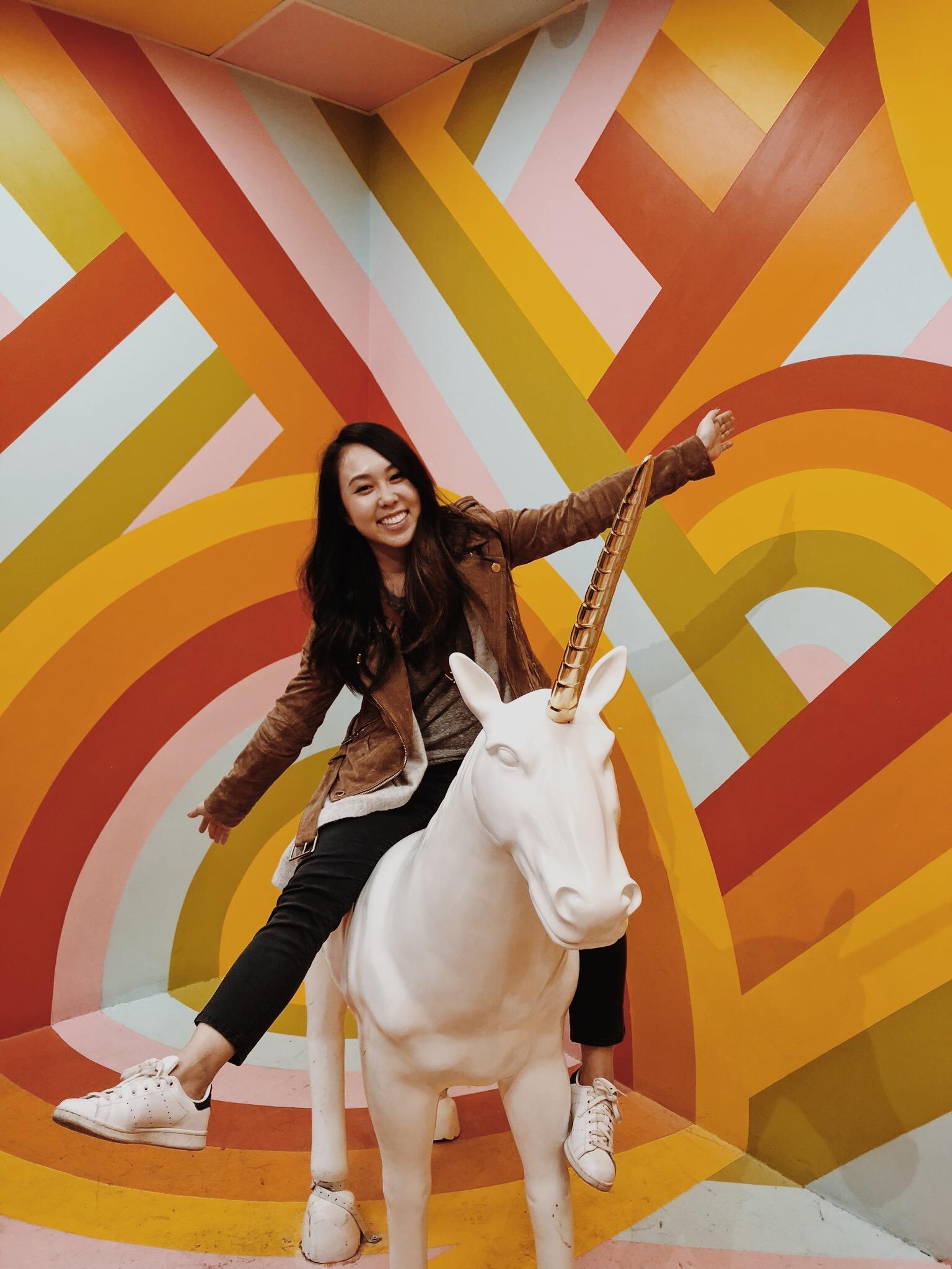 Museum of Ice Cream Milennial Pink Rainbow Room Unicorn