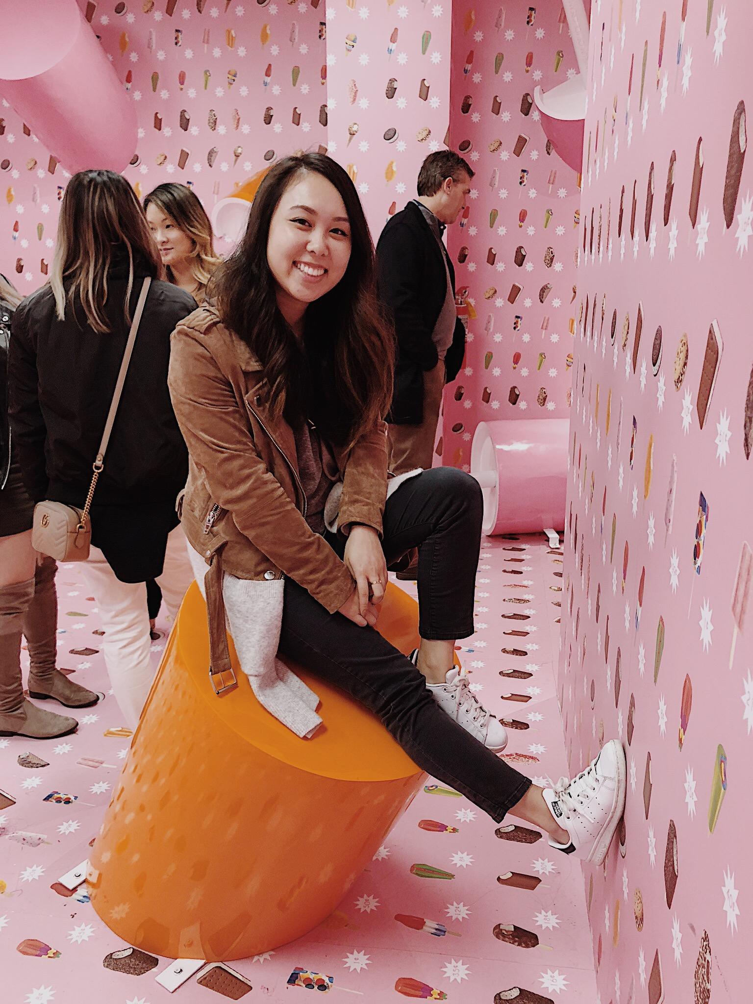 Museum of Ice Cream Milennial Pink Ice Cream Wall Room