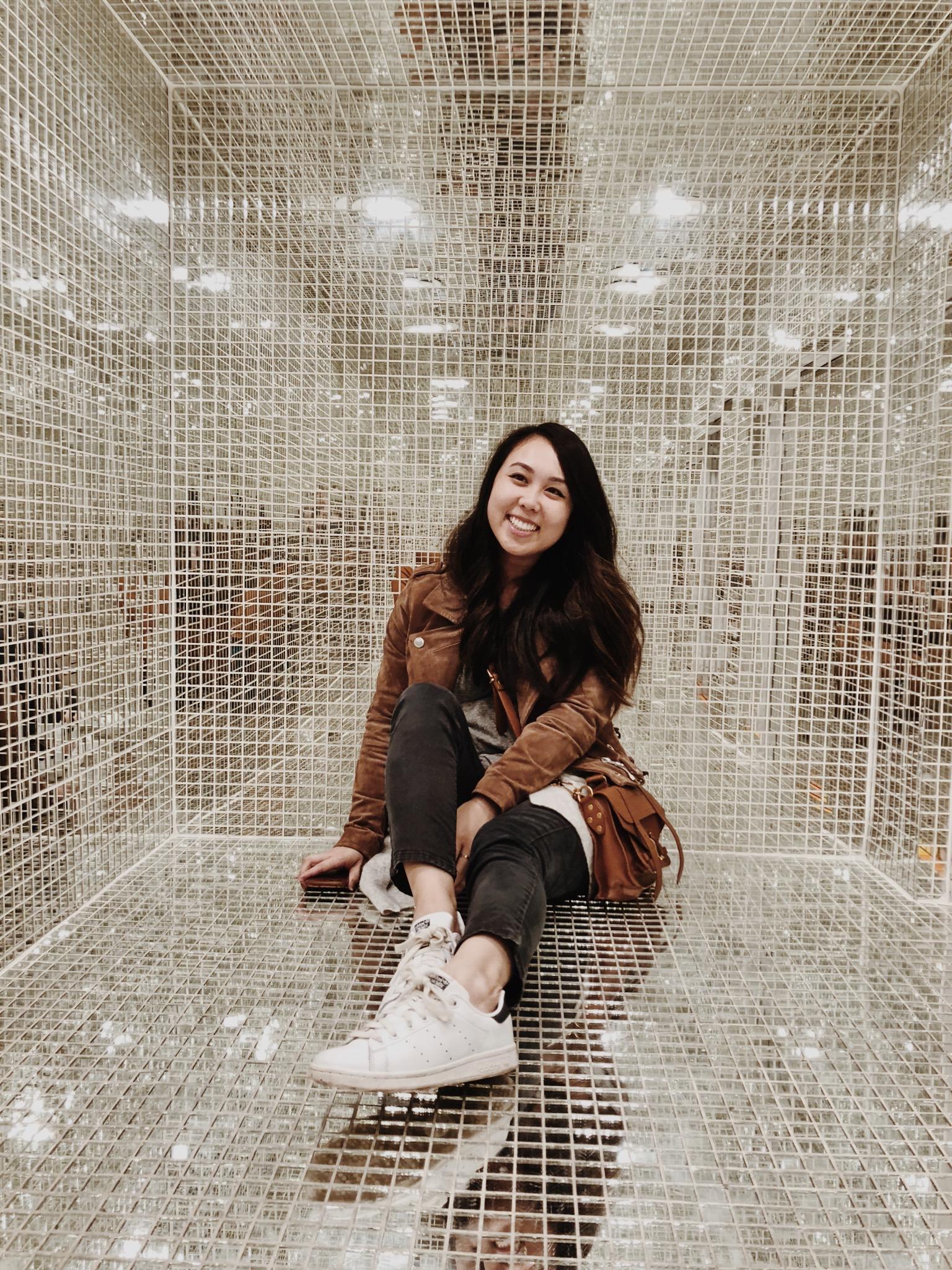 Museum of Ice Cream Milennial Pink Disco Mirror Room
