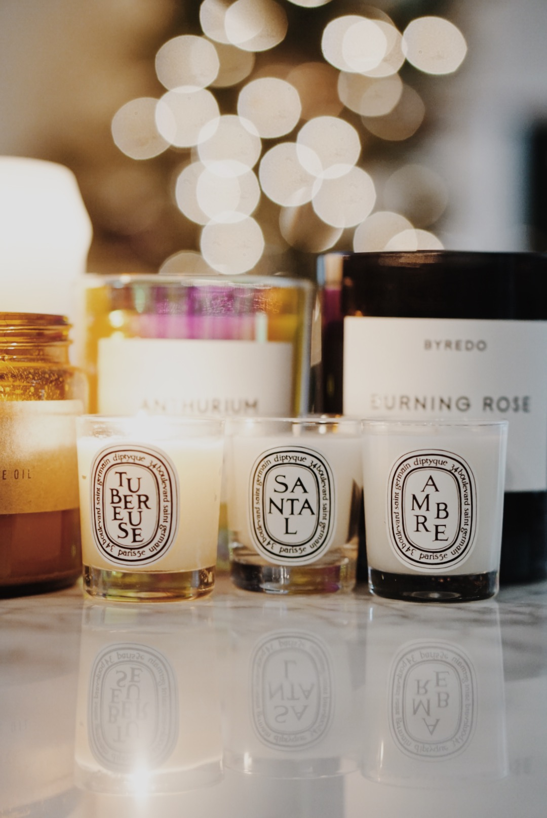 Winter Candle Lineup Diptyque Minis Byredo Overose