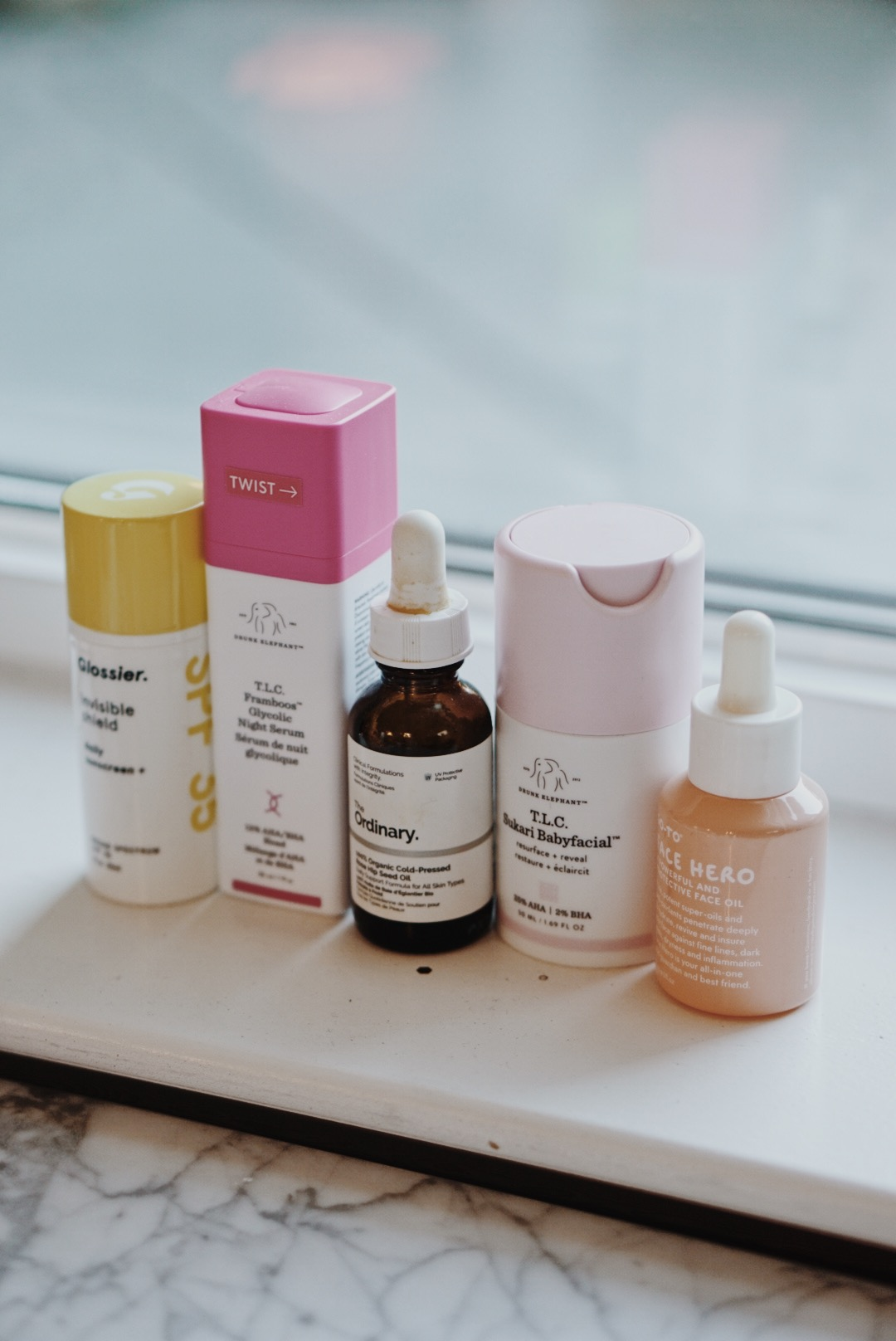 CHY 2017 Favorites Skincare Haircare Glossier Drunk Elephant Ordinary Go-To Skincare