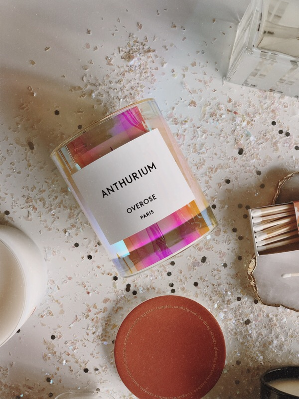 CHY Gift Guide Candle :: Overose Anthurium Holographic Candle, Shop Anomie