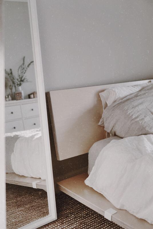 Minimal Bedroom Makeover - IKEA, Floyd Detroit, Brooklinen, Lulu and Georgia