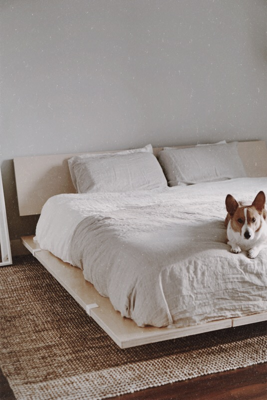 CHY Bedroom Updates - Brooklinen, Floyd Detroit, Corgi