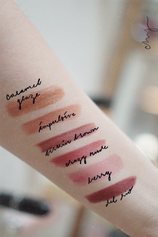 Everyday Winter Lipsticks / Warm Brown and Berry - Swatches