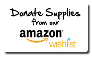 Click here to view our Amazon Wishlist   The easiest way to donate items is by purchasing them off our Amazon wishlist. On this list you can view our wants and needs by priority and by quantity needed. When you add one of these items to your cart from the wishlist it will be shipped directly to us.