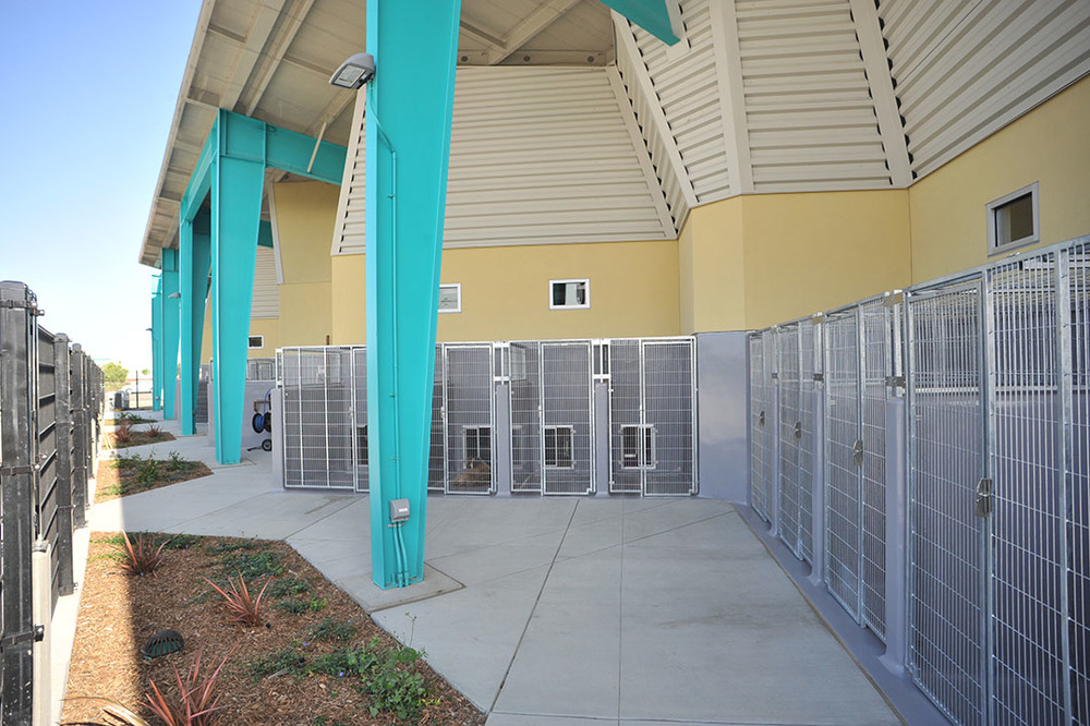 OUtside dog kennels Allow Fresh air and are built to reduce stress